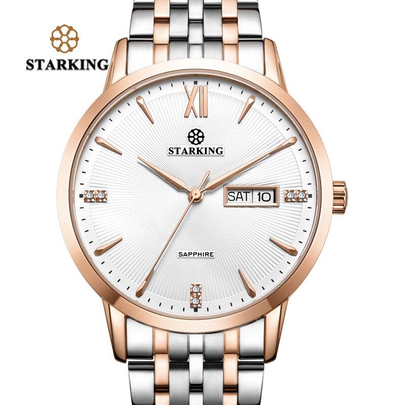 STARKING Bracelet Watch Dress Quartz Stainless-Steel Top-Brand Waterproof Women Luxury