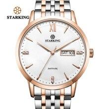 STARKING Top Brand Stainless Steel Bracelet Watch Women Luxury Quartz Auto Date Dress Ladies 3ATM Waterproof Wristwatches