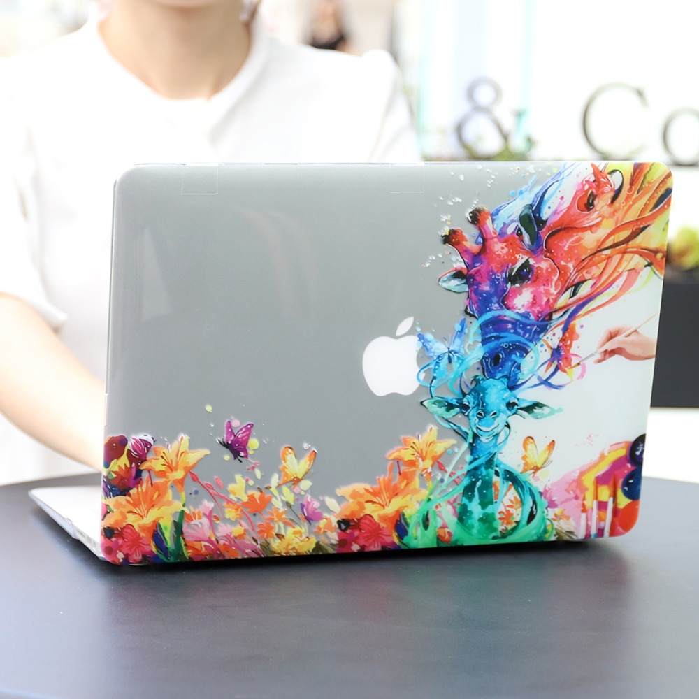 Floral Printing Hard Case for MacBook 102