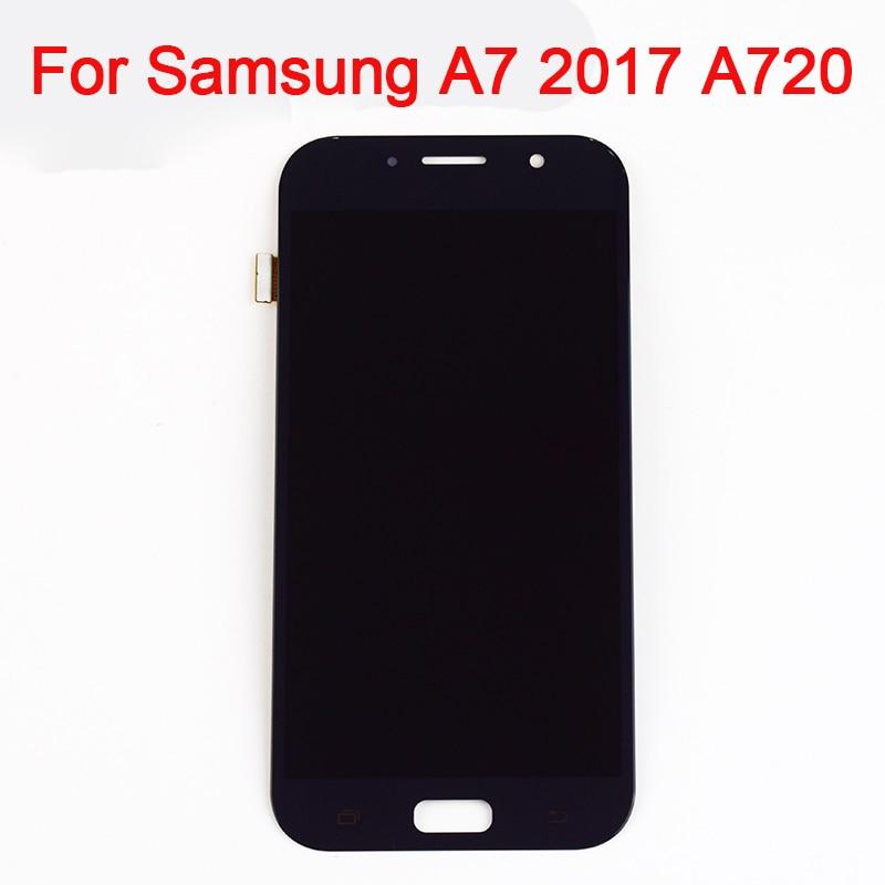 Affichage a7 2017 Pour Samsung Galaxy A7 2017 A720 A720F/DS A720S A720F Écran Tactile Digitizer + LCD Affichage ensemble de moniteur