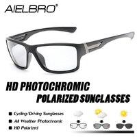 Ciclismo photochromic óculos de sol homem polarizado camaleão descoloração óculos de sol ao ar livre esportes quadrados acessórios de condução|Óculos de ciclismo| |  -