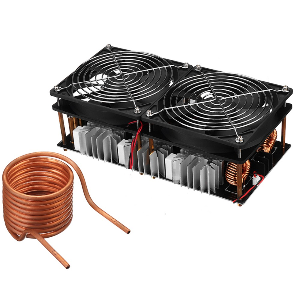 2500W ZVS Induction Heating Board Module Flyback Driver Heater+Coil+Dual fan-in Magnetic Induction Heaters from Tools    1
