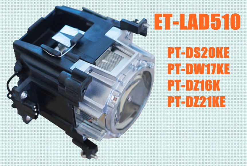 ET-LAD510 for Panasonic PT-DS20KE / PT-DW17KE / PT-DZ16K / PT-DZ21KE Original lamp with housing