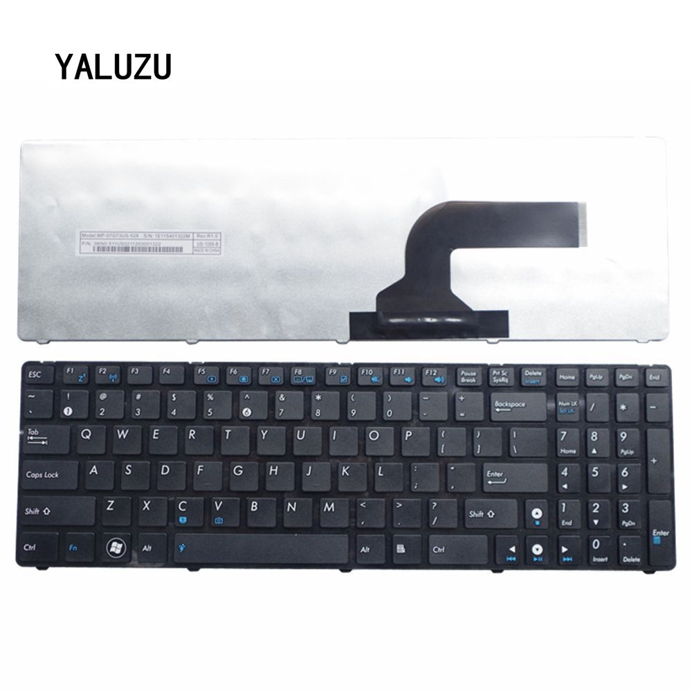 New US Keyboard For ASUS K52 X61 N61 G60 G51 K53s MP-09Q33SU-528 V111462AS1 0KN0-E02 RU02 04GNV32KRU00-2 V111462AS1 Laptop
