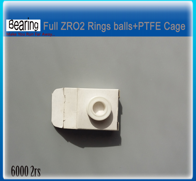 Double seals 6000 2rs CE ZRO2 Ceramic bearing 6000-2rs  seals ceramic bike repair bearing 1 piece ceramic 2 piece stacking