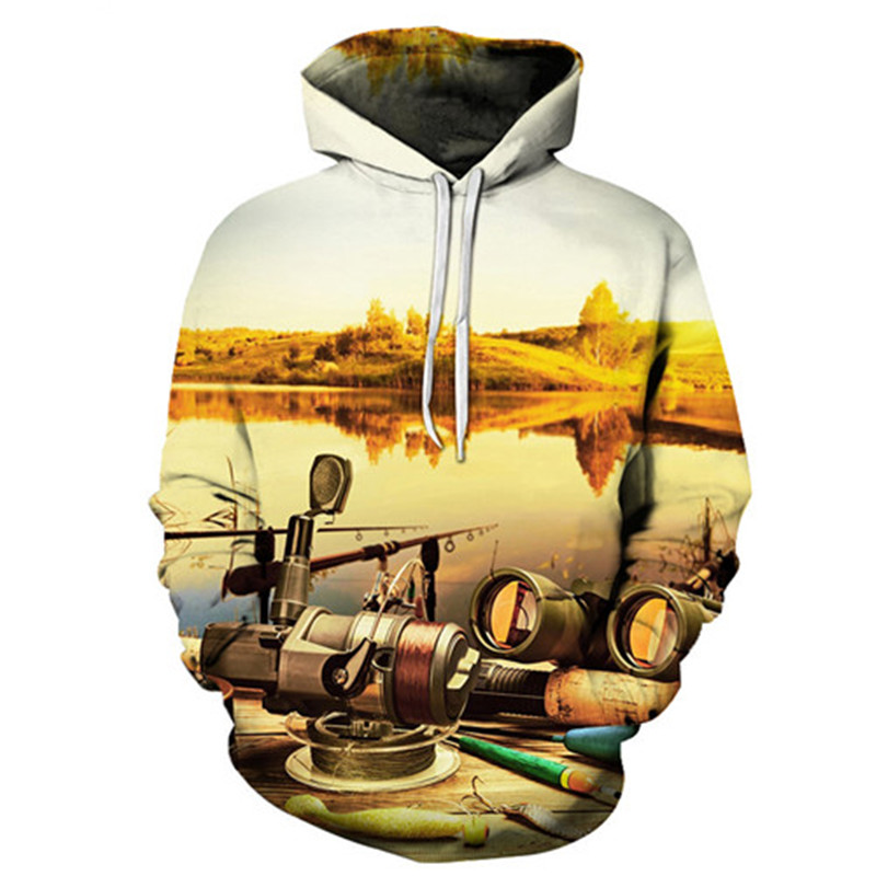 Sunset 3D Hoody Men Women Hoodies Anime Sweatshirts Fish Tracksuits Printed Pullover Harajuku Coat Boat New Drop ship ZOOTOPBEAR