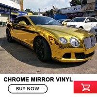 Imagem real/1.52*20 m ouro chrome Espelho envoltório de vinil decor auto film para qualquer auto Pequenos lucros mas retorno rápido