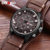 DOOBO Men S Casual Sport Quartz Watch Mens Watches Top Brand Luxury Quartz Watch Leather Military