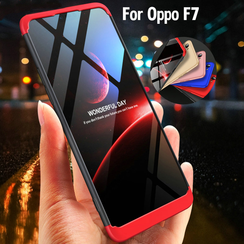 Knight Hybrid Triple Full Body Protective Back Cover Case For Oppo F7 Ultra-thin Plastic Case Oppo F7 phone Coque Fundas Shell