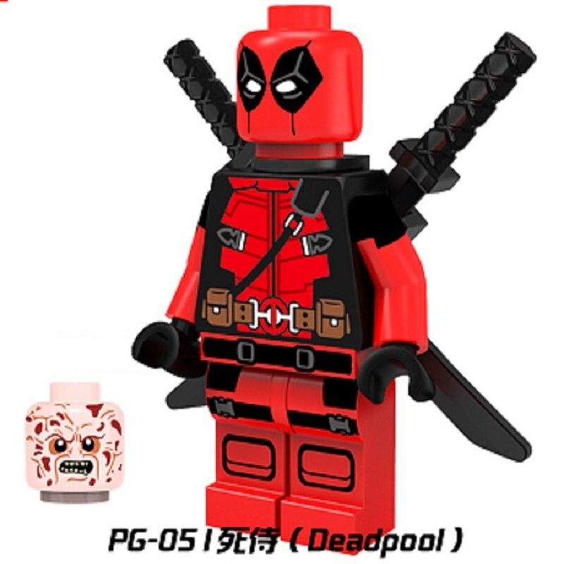 Одной продажи супер герои дэдпул atom капитан америка икру кирпичи строительные блоки собраны самые лучшие игрушки для детей pg051