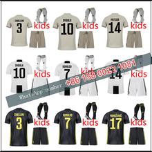 4b168e4e1 JUVENTUSES RONALDO 2019 2018 kids boy kits Soccer Jerseys kit 18/19 JUVE kit  +socks Dybala Home Away Third Football Shirt