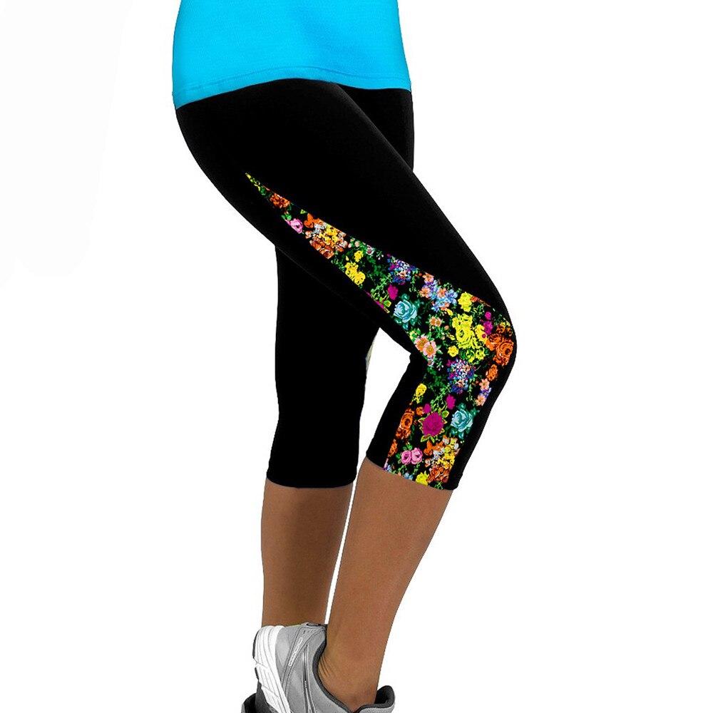 Woman Clothes Women Panties Ladies Floral Clothes Fitness   Leggings   Slim Cropped Pants Fitness   Legging   Workout   Leggings   Minceur