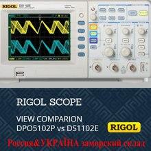 Rigol ds1102e osciloscópio digital, 100mhz osciloscópio digital 2 canais analógicos 100mhz de largura de banda