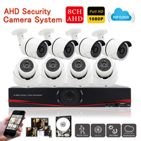 Mingkey 8CH 1080P Security Camera System 2 0 CCTV Kit Home CCTV System 3000TVL Outdoor Indoor