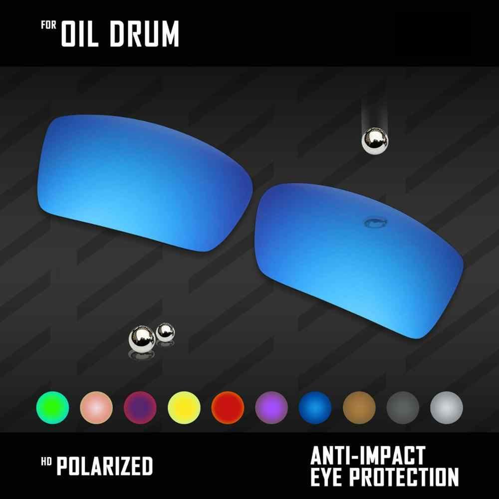 Oowlit Lensa Pengganti untuk Oakley Drum Minyak Kacamata Terpolarisasi-Multi Warna