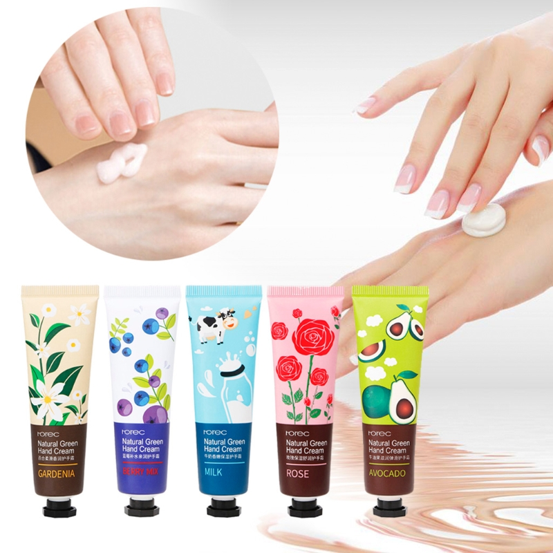 30g Plant /Fruit Extract Deep Nourishing Hand Lotion Natural Green Fruity Hand Cream