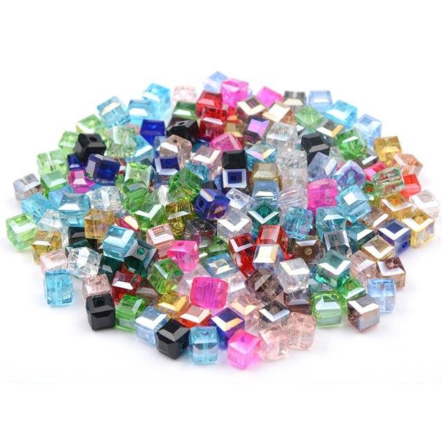200 pcs/lot Square crystal beads  2
