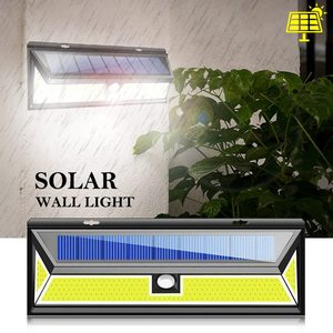 Image 2 - 2 حزمة 180 LED COB الشمسية حديقة محس حركة الجدار ضوء مصباح مقاوم للماء زاوية إضاءة واسعة في الهواء الطلق لوز الشمسية Led الفقرة الخارجية