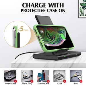 Image 5 - Wireless Charger Stand for Samsung Galaxy Watch active Buds Gear S2 S3 S4 Sport Mobile Phone Fast QI Wireless Charger Pad 10W