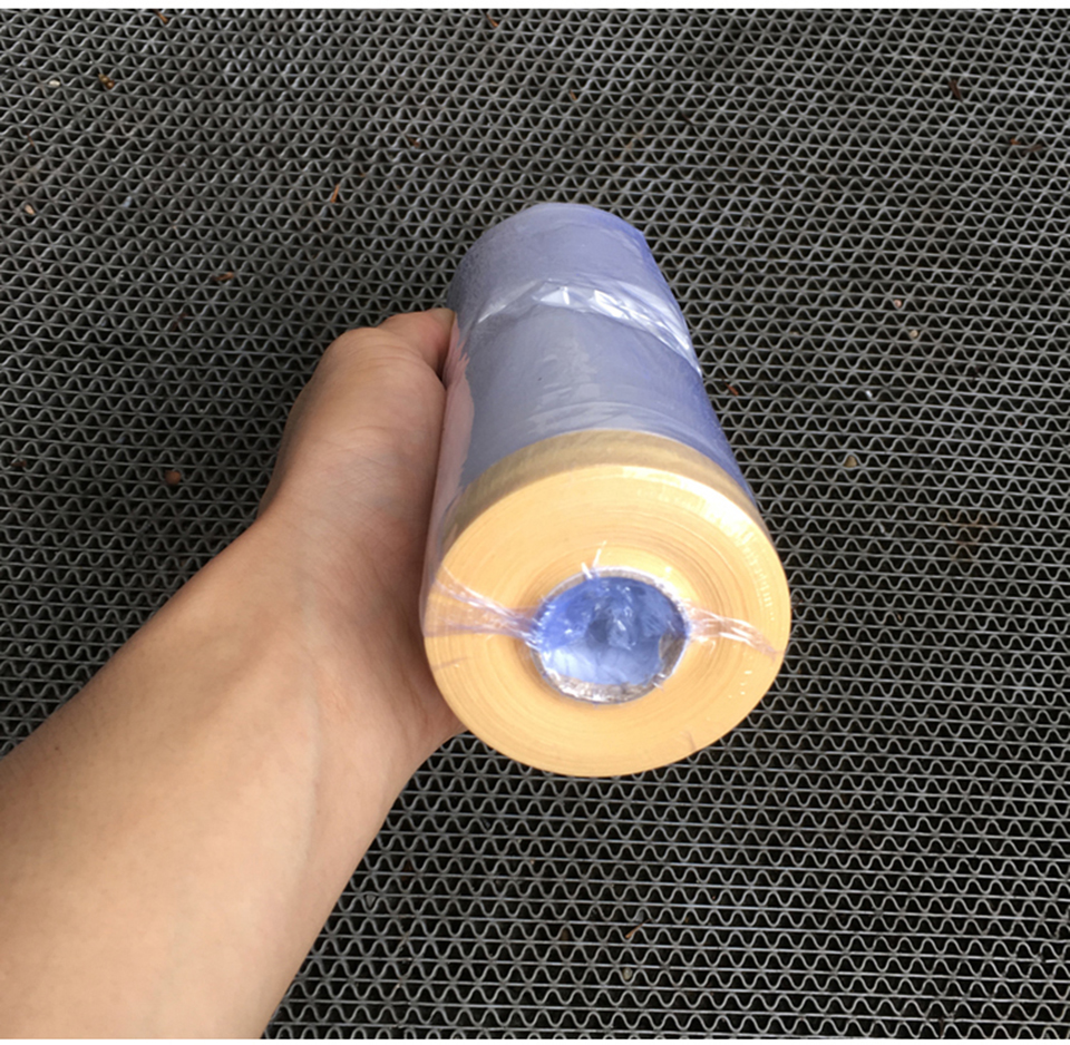 Image 4 - 3.6'x 98' /Roll PVC Clear Car Spray Paint Protection Film Pre Taped Plastic Drop Film For Car Paint Dust Protection MO 107-in Paint Cleaner from Automobiles & Motorcycles