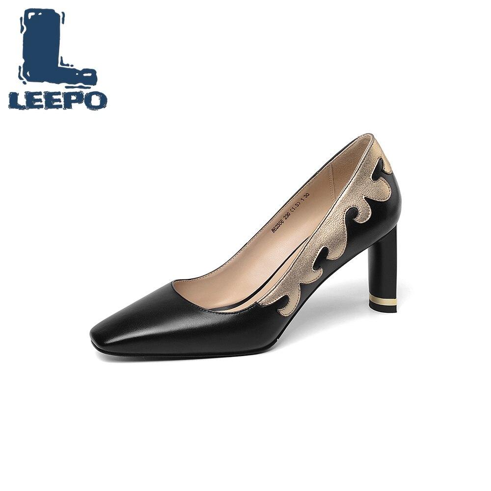Zapatos Diosa Tacón Blanco Cuadrado Vestido Alto Las black Mujeres Dedo Cuero Tacones Beige Bombas Elegante Del Mujer Vaca Leepo Negro Pie Delgada Señoras De ExqnPEA