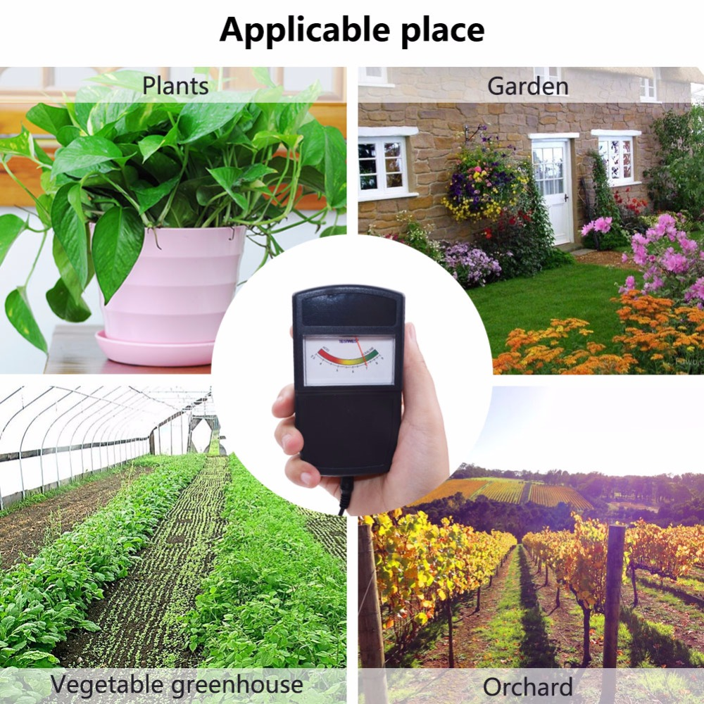 Yieryi New Arrival Portable Meter Ph Tester Soil Detector Water Moisture Light Test Meter Sensor For Garden Ph Meters