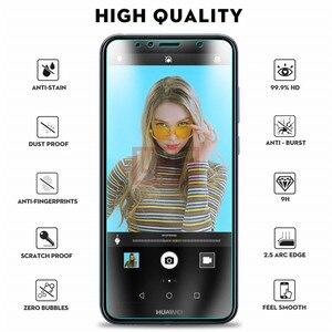 Image 2 - Protector de pantalla de vidrio templado para Huawei, Protector de vidrio templado para HUAWEI Y5 Y6 Y7 Y9 Y3 2018 Prime Pro, Y3 II Y5 II Y6 II 2017, 2 uds.