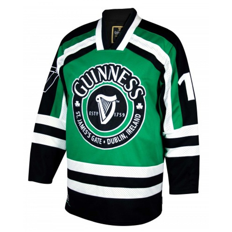 Guinness St.Jamess Gate Durblin Ircland MENS Hockey Jersey Embroidery Stitched Customize any number nameGuinness St.Jamess Gate Durblin Ircland MENS Hockey Jersey Embroidery Stitched Customize any number name