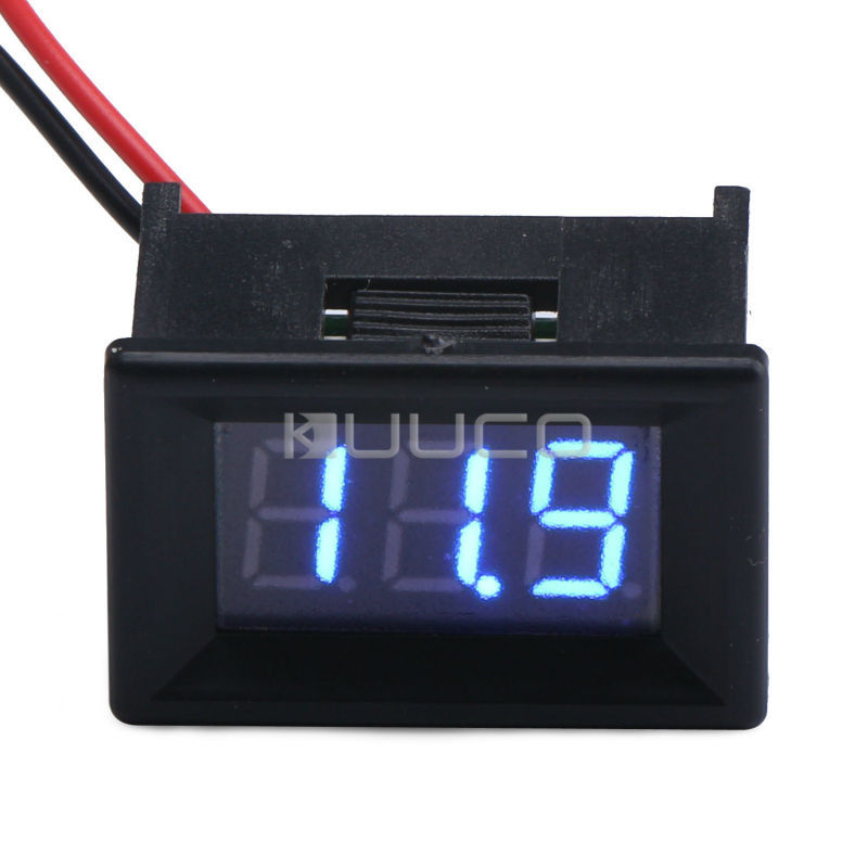 Digital Voltmeter DC 3.<font><b>2</b></font>~30.0V Blue Led Display Voltage Meter DC 12V 24V Volt Meter/Car Digital Tester
