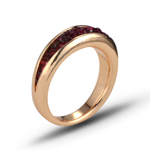 New creative index finger inlaid ring for Women Fashion Jewelry people irregular groove inlaid fuchsia Rhinestones Ring J02866