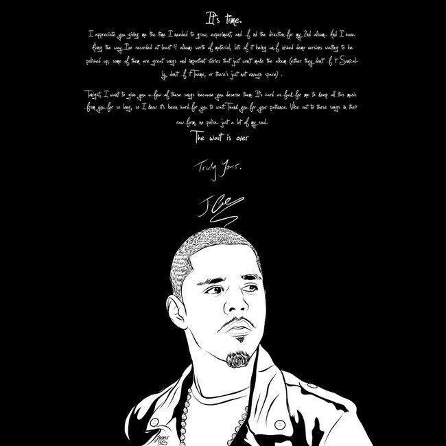 05 jermaine cole j cole rap hip hop music star art 14 x14 poster