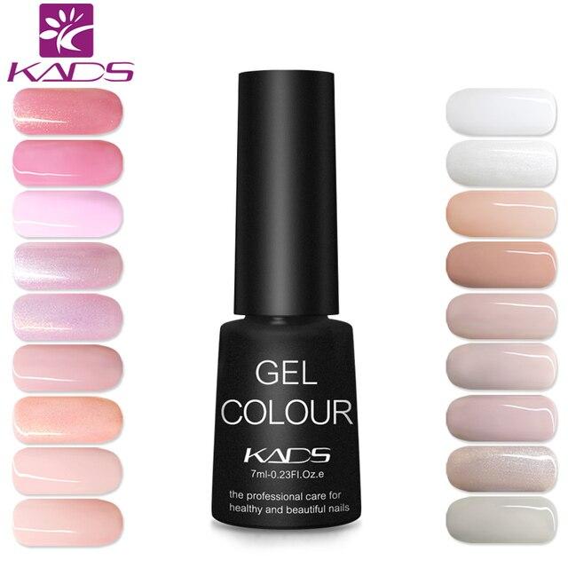 KADS 18 Pure Charming Light Color Series 7ml Nail Gel Polish Long Lasting UV Led Gel Nail art Lacquers Gel Nail Polish Glue