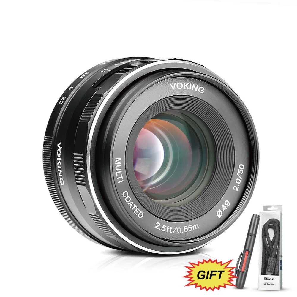 Voking VK-50mm F2.0 Large Aperture Manual Focus Lens for Olympus M4/3-mount EM1/M/M10/EP5/EPL3/PL5/PL6/PL7/PEN-7 цена