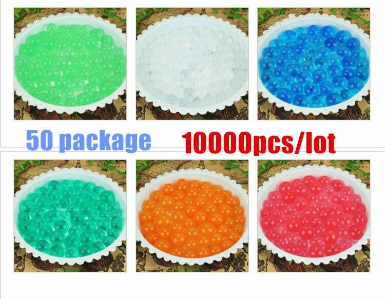 Livraison gratuite 10000 pcs/lot 50 paquet Soft Crystal Water Paintball balle pistolet jouet accessoires CS jeu pistolet pistolet balle