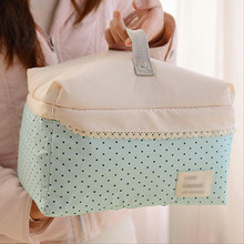 2017 Women Large Capacity Portable Cosmetic Bag New Arrival Makeup Bag Dot Handbag Canvas Bag Travel Bag Free Shipping P207