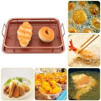 New 13inch Copper Crisper Air Fryer Tray Non Stick Eco Friendly Mesh Grill Crisper Kitchen Cooking