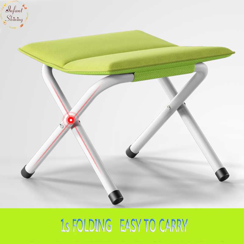 Portable Folding Stool Thicker Chair Fishing Maza Adult Outdoor Train Small Bench Changing Shoes Stool feistel denmark queue mini portable folding stool small seat subway fishing chair mini fashion danish standing chair