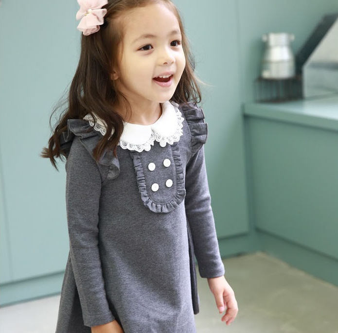 e36eebab4 Children Evening Dress Autumn Winter Cotton Party Dresses Baby Girls ...