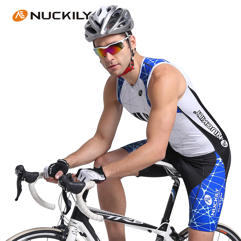 NUCKILY 2016 Triathlon Mtb Cycling Vest Set Sleeveless Jumpsuit Breathable One piece font b suit b