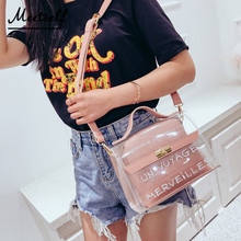 MEETSELF New Brand Fashion Temperament Ladies Transparent Shoulder Bag Summer Beach Small Hand Messenger SN8015