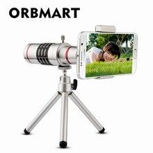 ORBMART אוניברסלי 18X זום אופטי טלסקופ עם מיני חצובה עבור Samsung iPhone Xiaomi Redmi הערה Meizu טלפון נייד עדשות