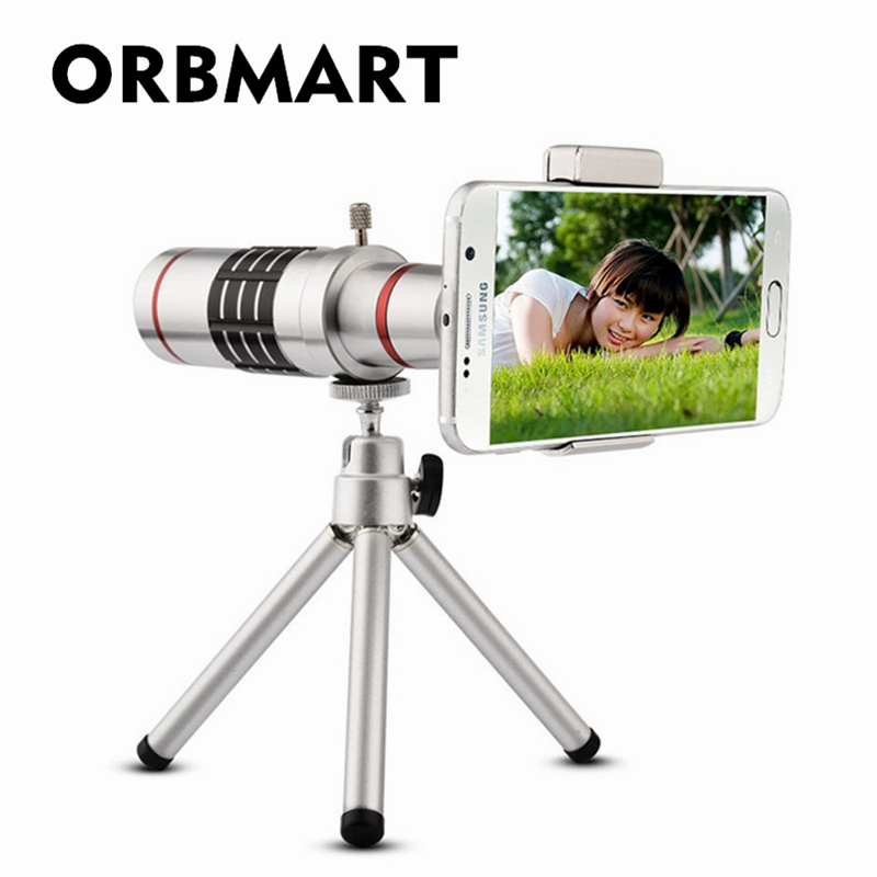 Orbmart Universal 18X Zoom Optical Telescope With Mini Tripod For Samsung iPhone Xiaomi Redmi Note Meizu