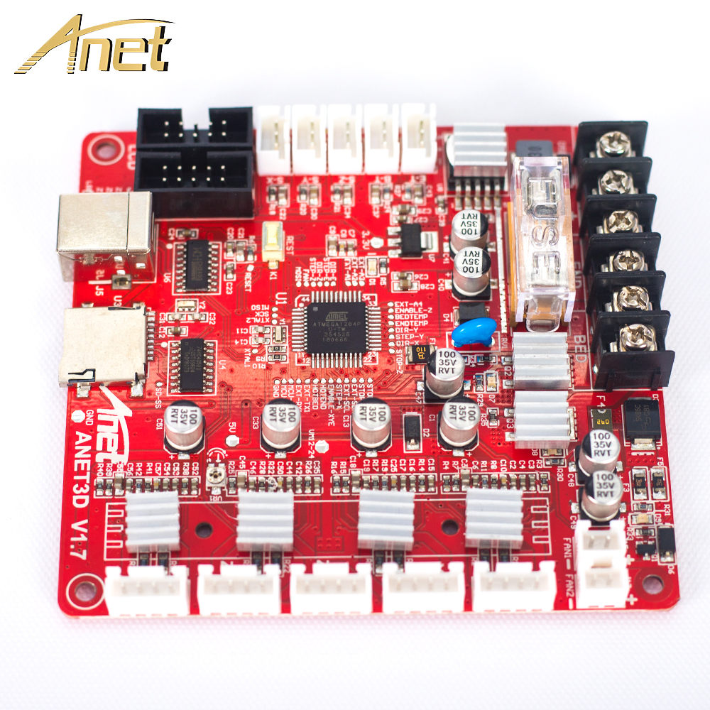 Anet 3D Printer Accessories & Parts motherboard Control Board Componenti Stampante 3D for Anet A8 A6 A3 A2 Reprap Prusa I3|reprap 3d|parts 3d printer|reprap 3d parts - title=