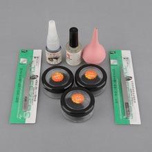 8/10/12mm False Individual Extension Black Eyelash Glue Remover Tweezer Kit Eye Primer Set Brand New