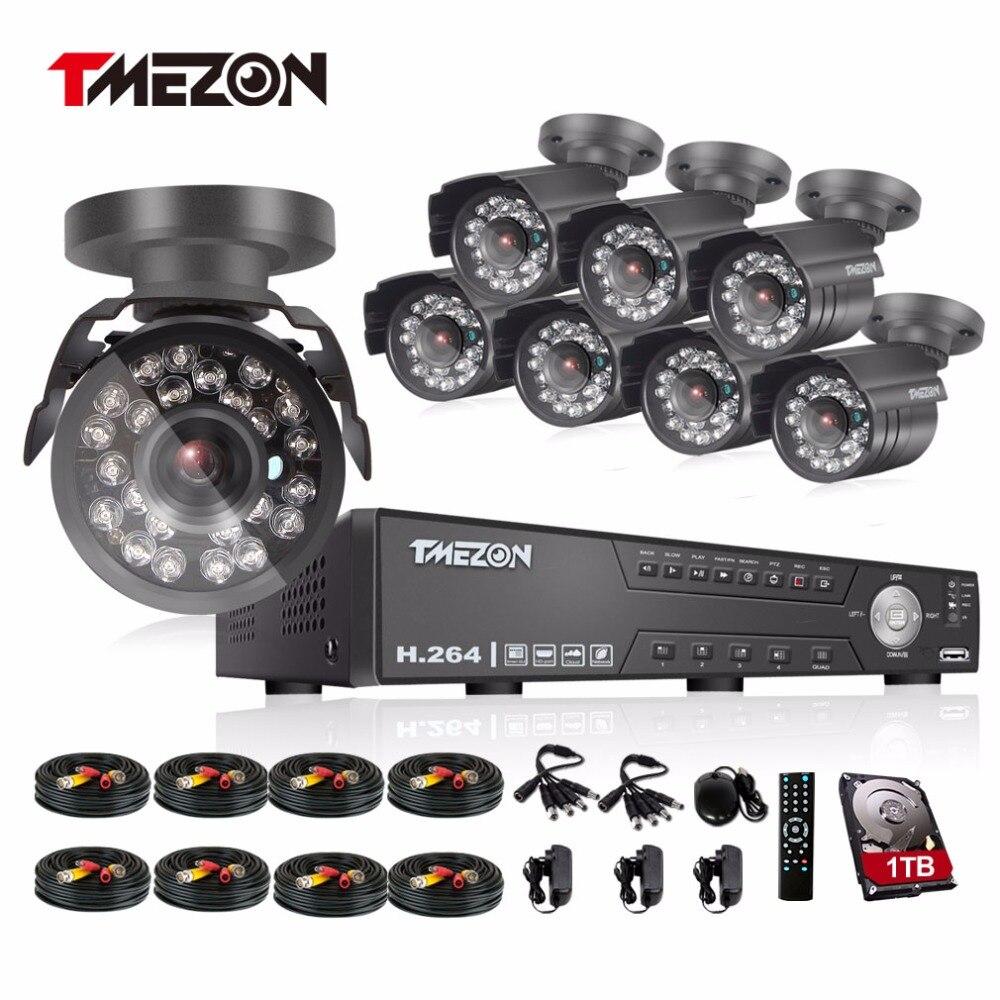 bilder für Tmezon 8CH AHD DVR 8 stücke 2.0MP 1080 P Cctv-kamera-sicherheits-überwachung CCTV System Im Freien Wasserdichte IR Nachtsicht 1 TB 2 TB HD Kit