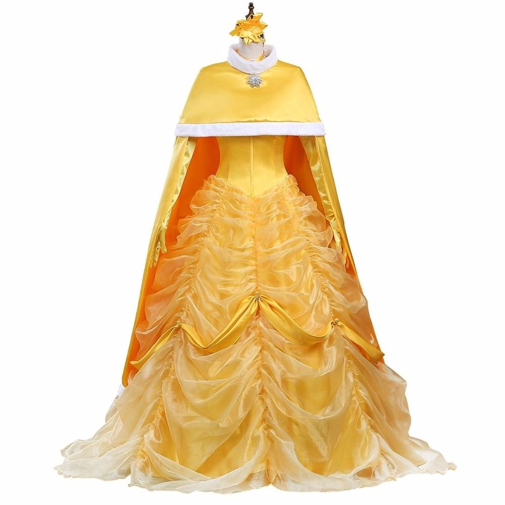 Belle et la bête Belle robe de soirée avec Cape Costume Cosplay