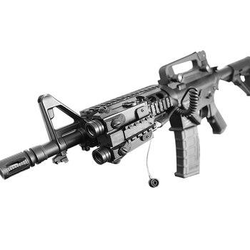 Taktisches Laservisier | LASERSPEED 5mw Military Green Laser Anblick Dual Strahl Grün Laser Und Infrarot IR Laser Gewehr Tactical Laser Pointer Für AR15 AK47