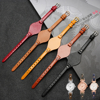 UYOUNG high quality Gato tray genuine leather watchband for Leather watch with ES4119 ES4176 ES3262 strap female 8mm