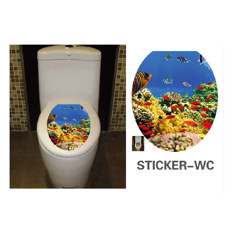 12 pattern toilet stickers wall decoration vinyl wc - Stickers deco wc ...