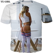YX GIRL Drop shipping 2018 summer New style Fashion Mens T-shirt Sexy beauty 3d Print tshirt Men Women Casual Cool t shirt WZ-2